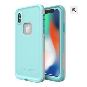 Iphone X Mint Lifeproof Fre case